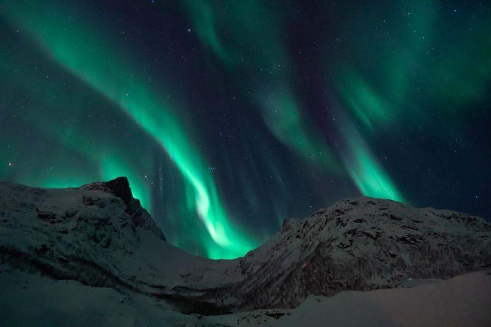Luci nel cielo dell'aurora boreale