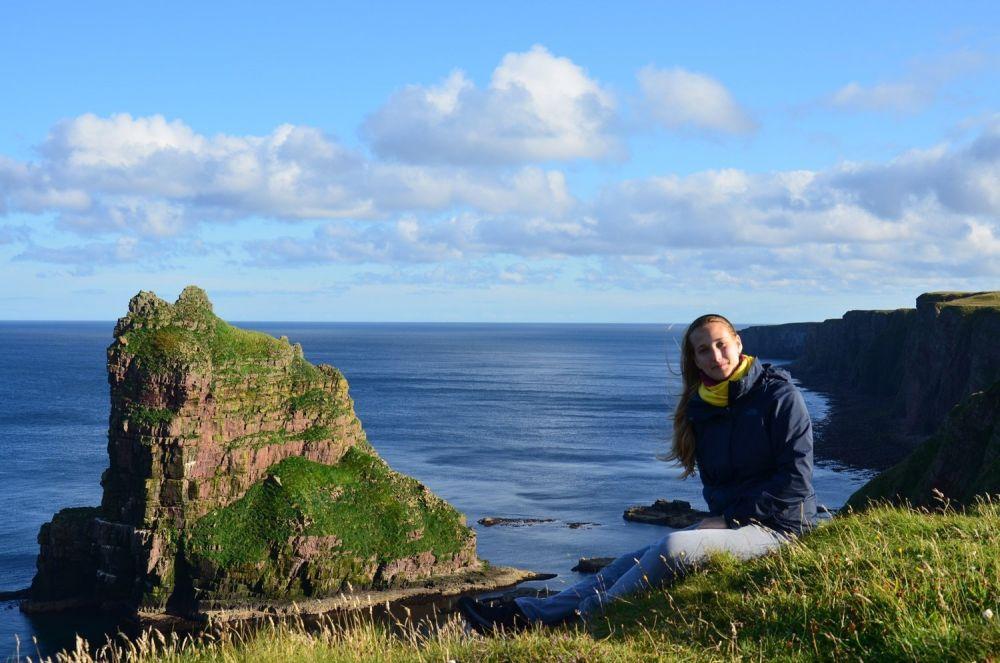 Eleonora al Duncansby Head - Scozia