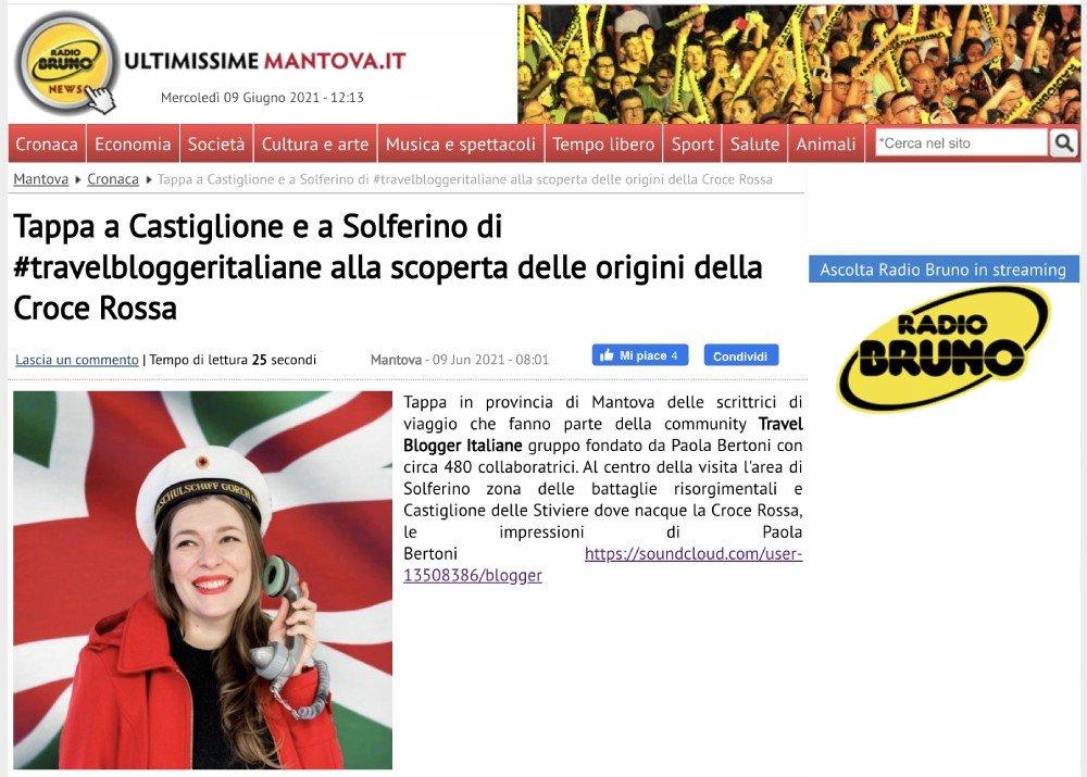 Rassegna stampa #TBImeetDunant2021 Ultimissime Mantova