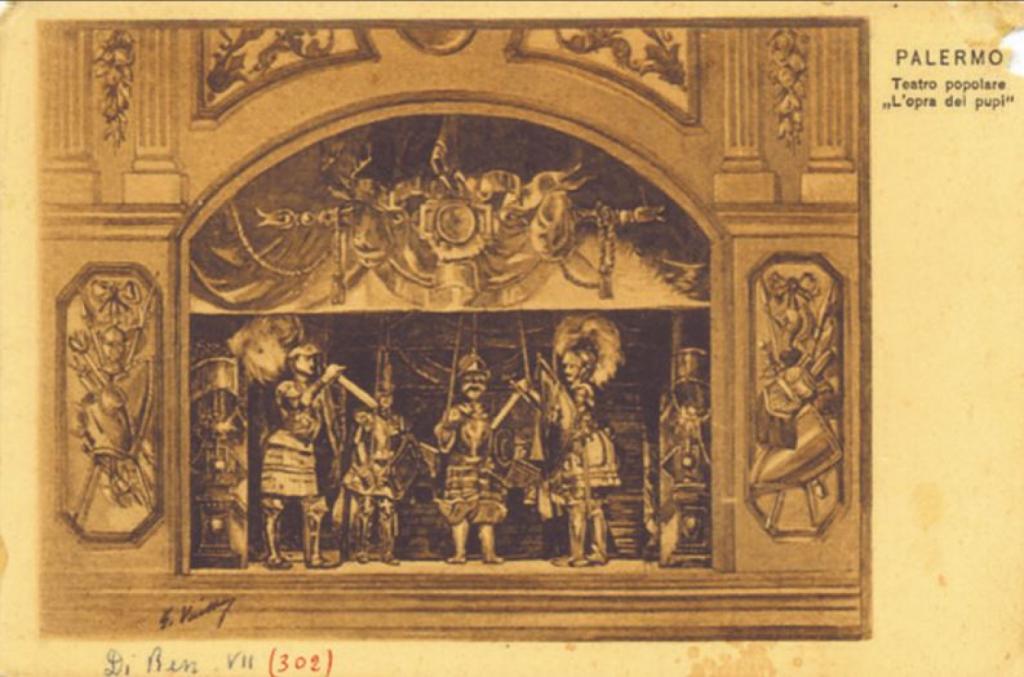 Antico teatrino dei pupi siciliani