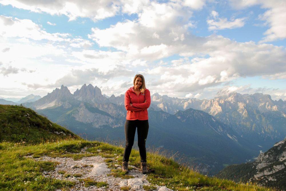 Silvia Vettori di Bagaglio Leggero sulle Dolomiti