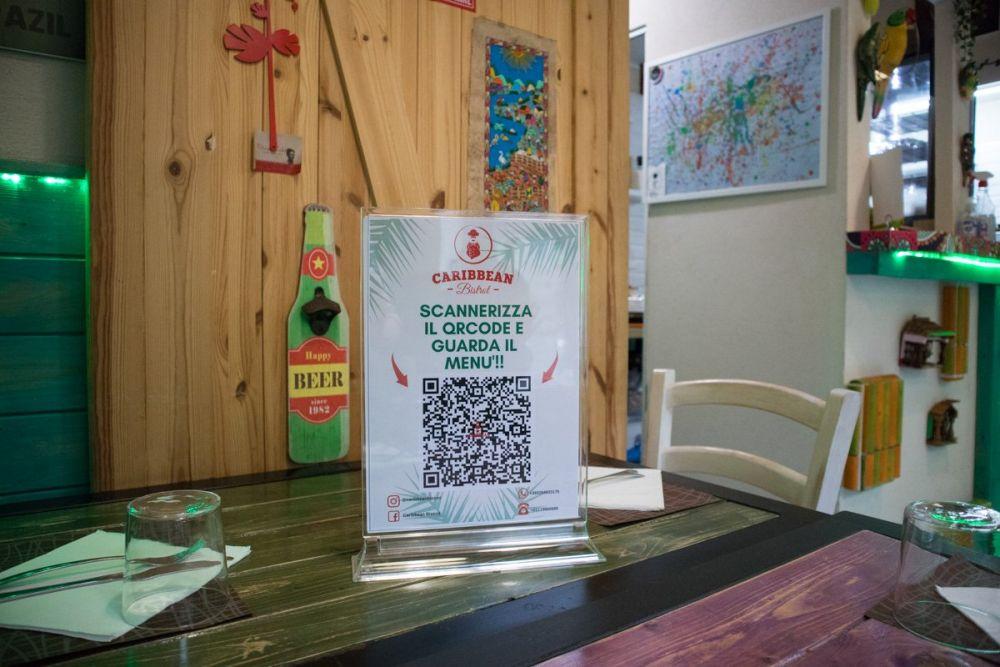 Il QR code del Caribbean Bistrot di Torino da cui visualizzare il menu in formato digitale
