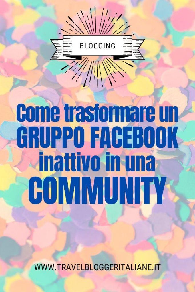 Come trasformare un gruppo Facebook inattivo in una community