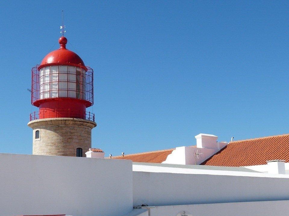 Il faro di Capo Sao Vicente in Algarve