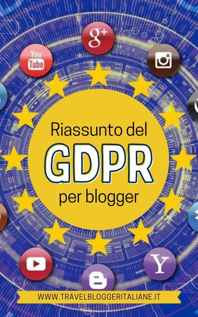Riassunto del GDPR per blogger