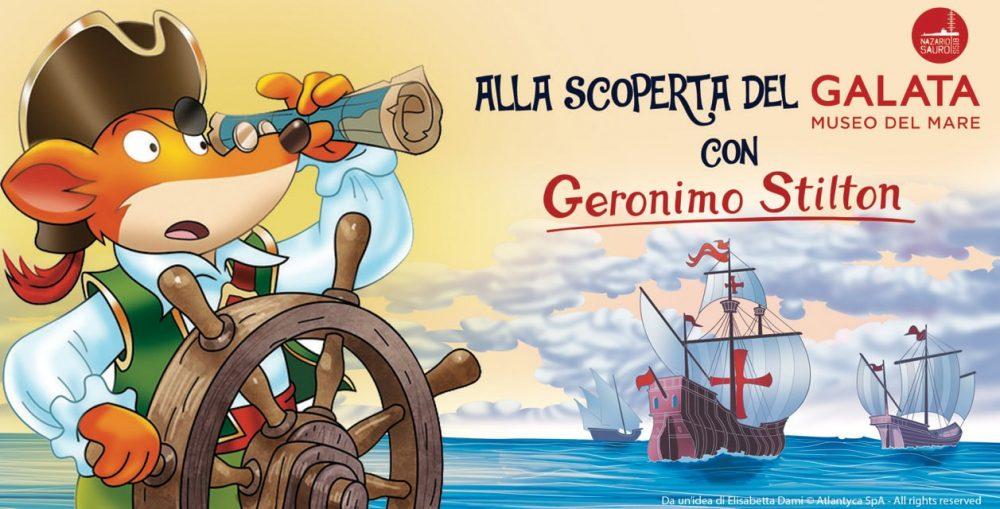 Geronimo Stilton guida del percorso per bambini al Galata Museo del Mare di Genova