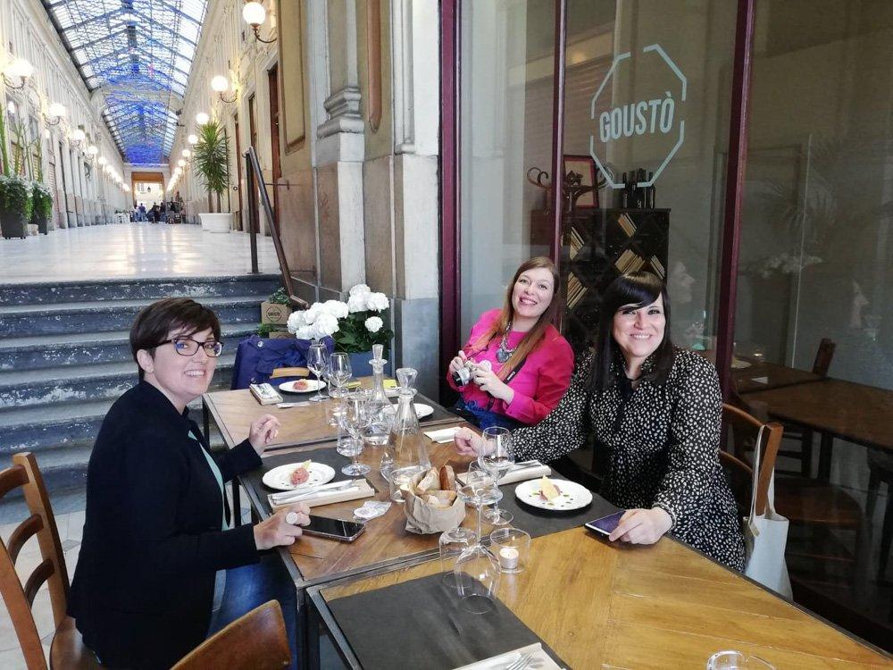 Anna Bonetto, Paola Bertoni e Krizia Ribotta Giraudo di Travel Blogger Italiane da Goustò a Torino