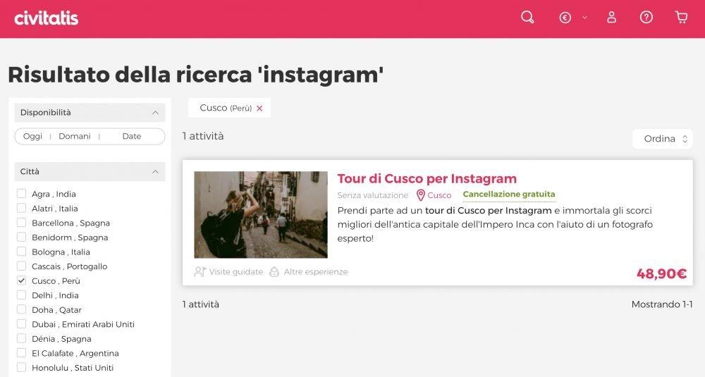 Tour per Instagram a Cusco, Perù