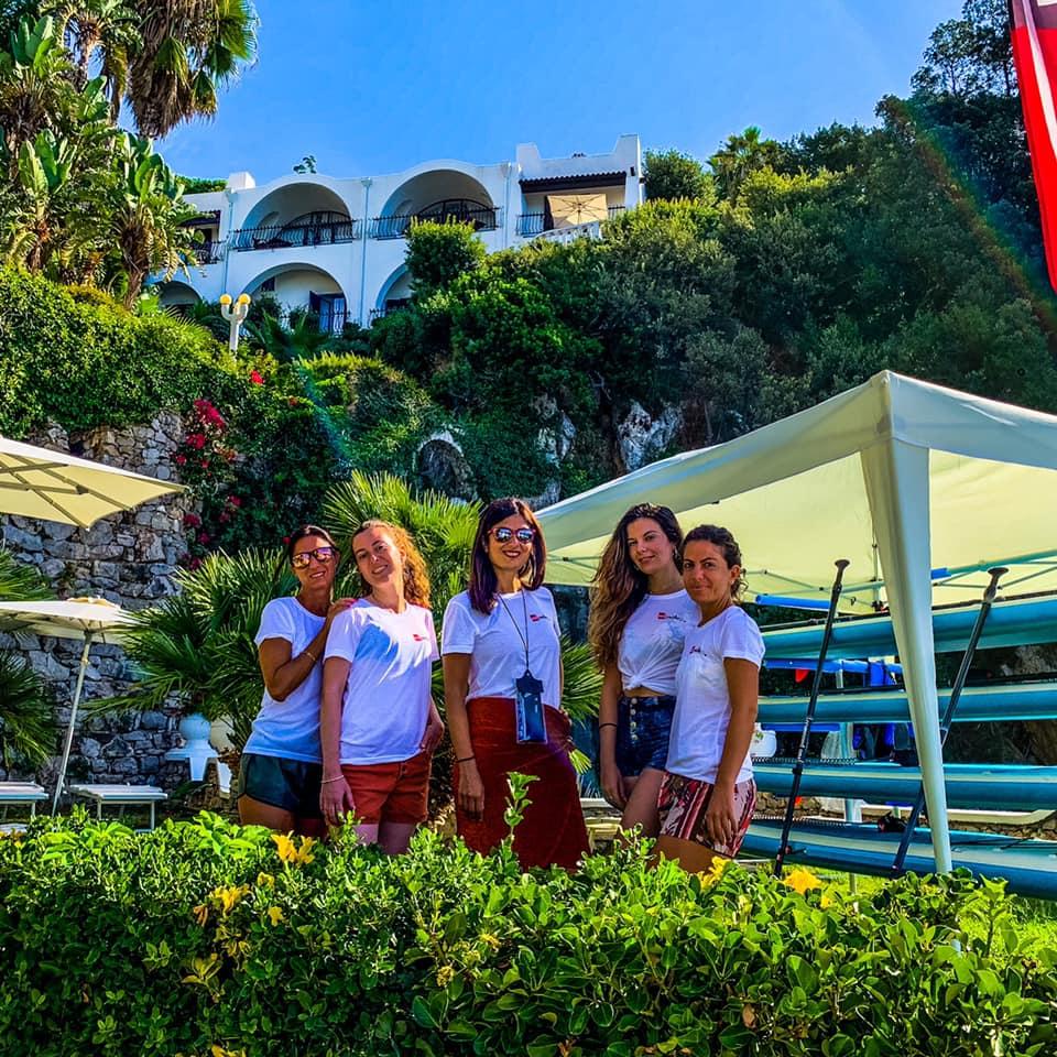Le Travel Blogger Italiane partecipanti al tour Gaetavventura alla scuola di SUP