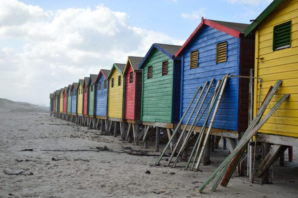 La spiaggia di Muizenberg a Città del Capo