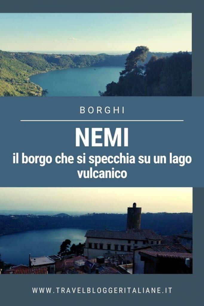 Nemi, il borgo che si specchia su un lago vulcanico