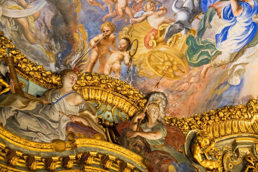 Affresco in un Palazzo dei Rolli di Genova, foto Viaggi che mangi