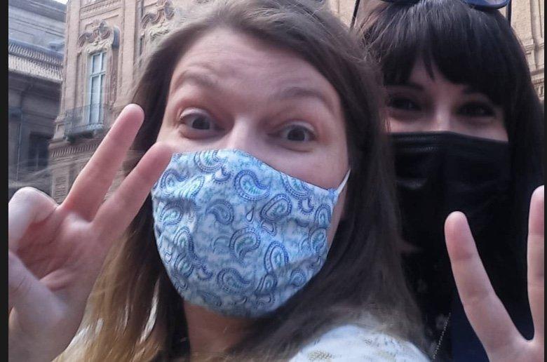 Paola Bertoni e Krizia Ribotta Giraudo durante il tour Torino Segreta