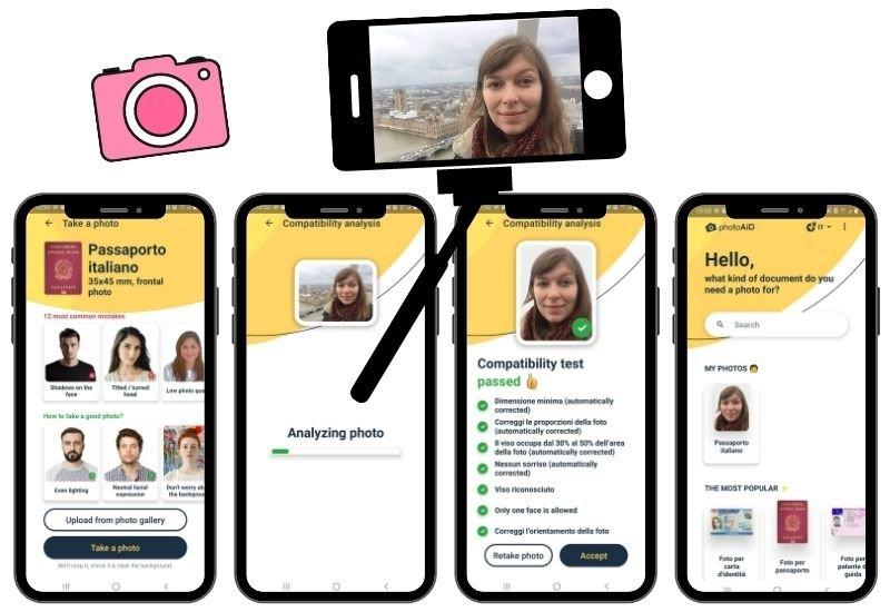 Passaggi per creare la foto del passaporto su Passport Photo Online