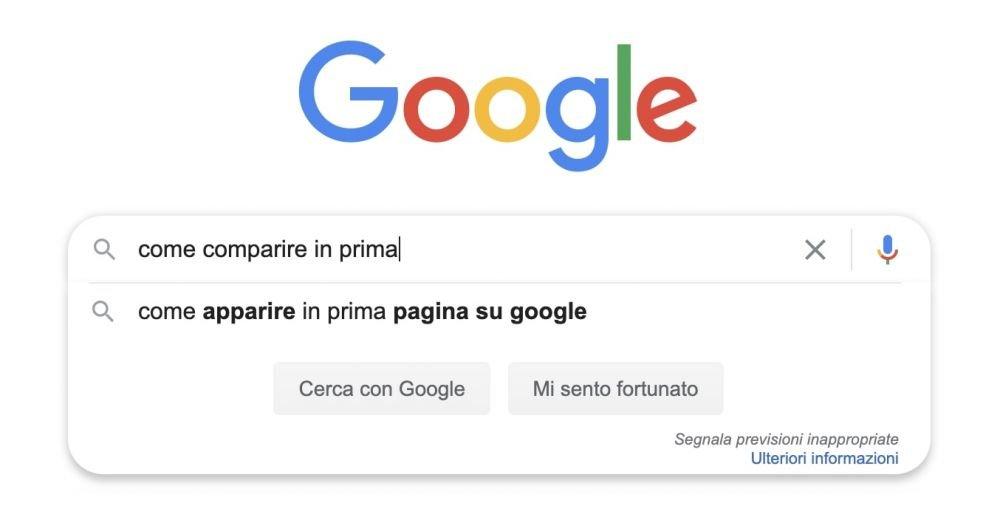 Ricerca come comparire in prima pagina su Google