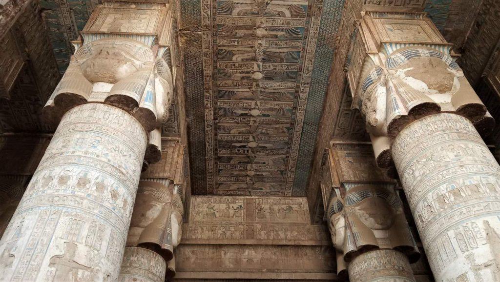 Interno tempio egizio di Dendera