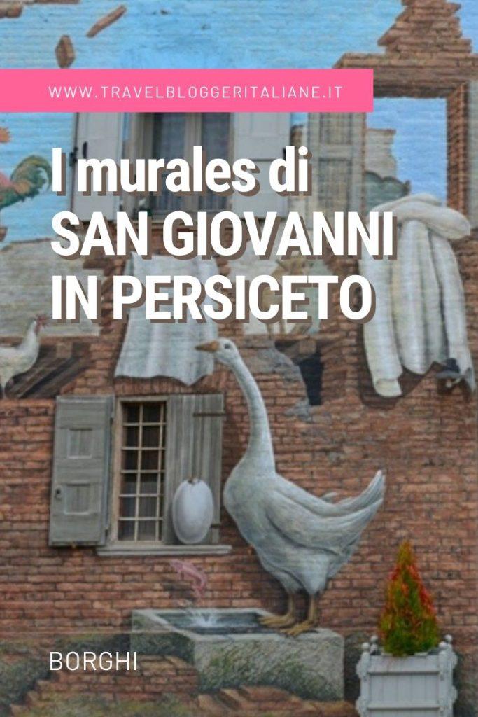 Borghi d'Italia: i murales di San Giovanni in Persiceto