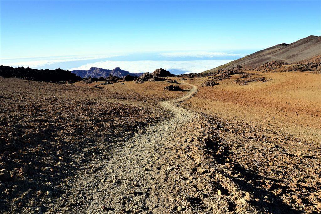 Sentiero verso il Teide a Tenerife