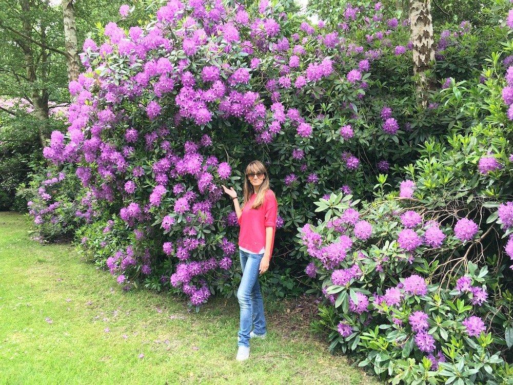 Simona Marri, blogger di Una soffitta per due, ai Kew Gardens di Londra, in Inghilterra