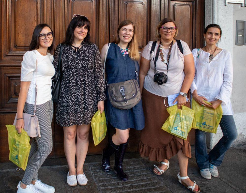 Le Travel Blogger Italiane partecipanti al mini blogtour #cartolinedatorino: da sinistra Sonia Esposito, Krizia Ribotta Giraudo, Paola Bertoni, Claudia Buratti, Virginia Bovolo