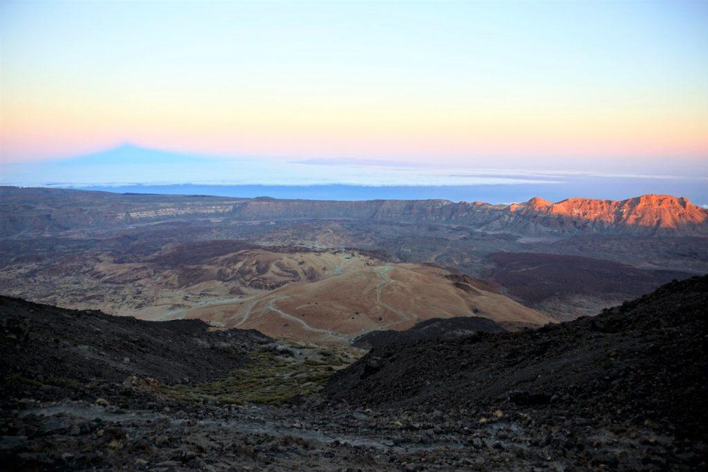 Un tramonto soffuso a Tenerife
