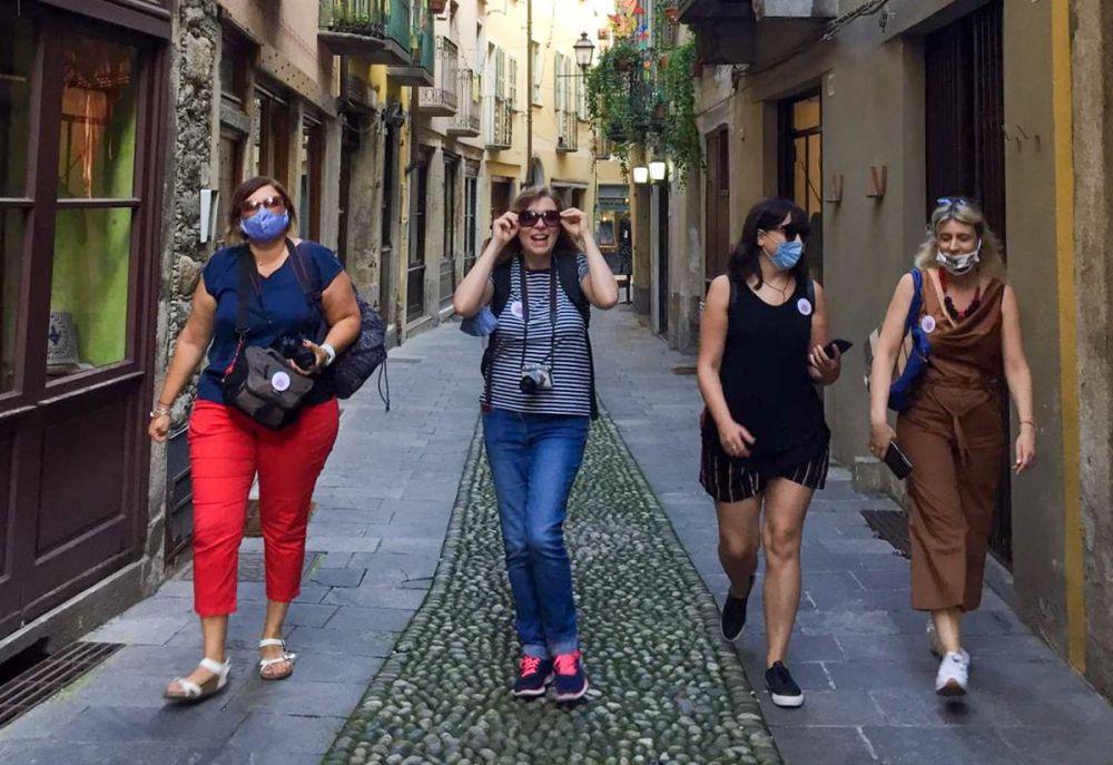 Travel Blogger Italiane all'educational tour in Valsesia: Claudia Buratti di Domani andiamo a, Paola Bertoni di Pasta Pizza Scones, Krizia Ribotta Giraudo di Krizia in Travelland, Valeria Salvai di Mente in viaggio